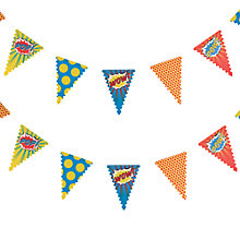 Buy Pop Art Superhero Paper Party Bunting, L3.5m Online at johnlewis.com