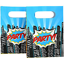 Buy Ginger Ray Pop Art Superhero Party Bags, Pack of 8 Online at johnlewis.com