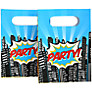 Ginger Ray Pop Art Superhero Party Bags, Pack of 8
