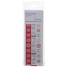 Buy John Lewis Christmas Paper Chains, Red/White Online at johnlewis.com