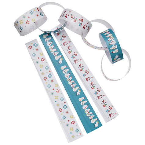 Buy John Lewis Christmas Character Paper Chains, Multi Online at johnlewis.com