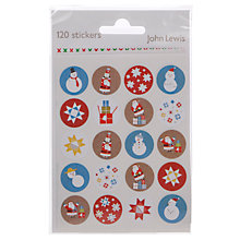 Buy John Lewis Christmas Stickers, Pack of 120 Online at johnlewis.com
