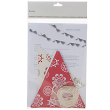 Buy John Lewis Snowflake Bunting Online at johnlewis.com