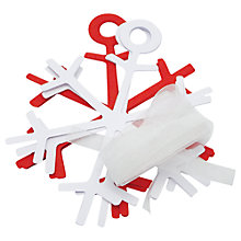 Buy John Lewis Make Your Own Snowflake Garland, Red/White Online at johnlewis.com