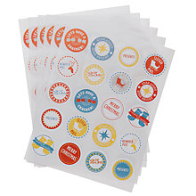 Buy John Lewis Christmas Message Stickers, Pack of 120 Online at johnlewis.com