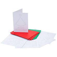 Buy John Lewis Colour Your Own Christmas Cards, Pack of 8 Online at johnlewis.com