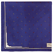Buy Reiss Grandslam Micro Wing Print Pocket Square, Navy Online at johnlewis.com