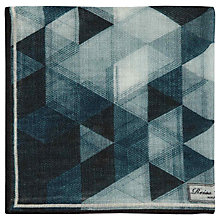 Buy Reiss Holiday Triangular Print Pocket Square Online at johnlewis.com