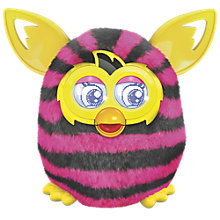 Buy Furby Boom, Pink/Black Stripes Online at johnlewis.com
