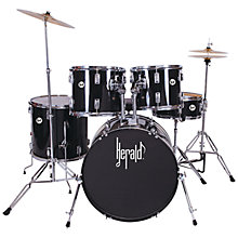 Buy Herald 5-Piece Full Size Drum Kit, Black Online at johnlewis.com