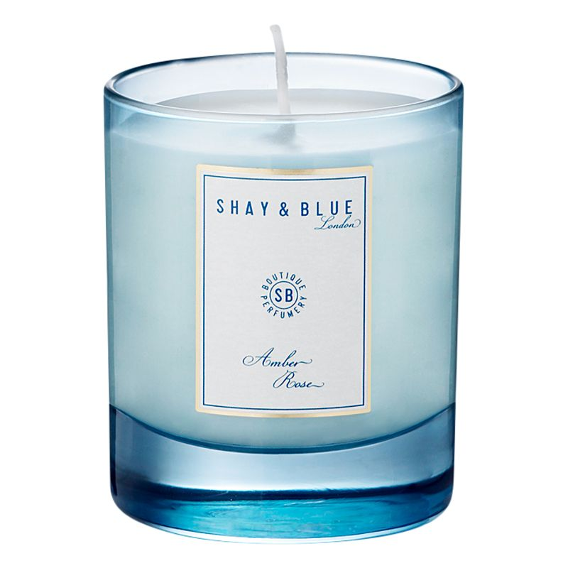 Shay & Blue Shay & Blue Amber Rose Natural Scented Wax Candle, 140g