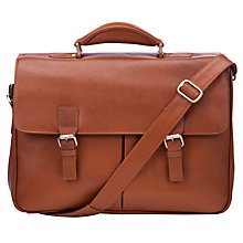 Buy John Lewis Strasbourg Leather Briefcase, Tan Online at johnlewis.com