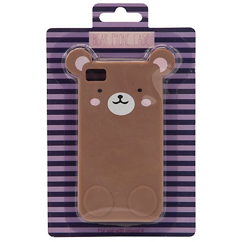 Buy John Lewis Bear Phone Case, Brown Online at johnlewis.com