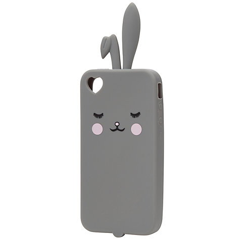 Buy John Lewis Bunny Phone Case, Grey Online at johnlewis.com