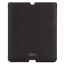 Buy DKNY Saffiano iPad Sleeve, Black Online at johnlewis.com