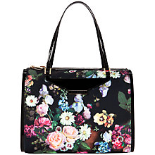 Buy Ted Baker Jahaz Oil Painting Bowler Bag, Black Online at johnlewis.com