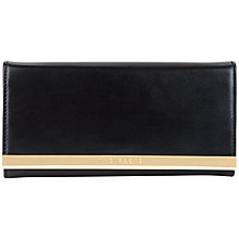 Buy Ted Baker Janit Metal Bar Matinee Purse, Black Online at johnlewis.com