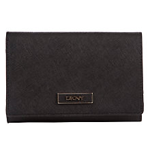 Buy DKNY Saffiano Medium Carryall Wallet, Black Online at johnlewis.com