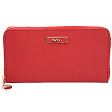 Buy DKNY Saffiano Large Zip Wallet Online at johnlewis.com