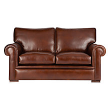 Buy John Lewis Romsey Medium Leather Sofa with Dark Legs, London Saddle Online at johnlewis.com