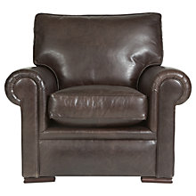 Buy John Lewis Romsey Leather Armchair with Dark Legs Online at johnlewis.com