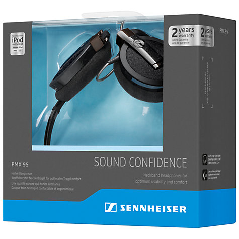 Buy Sennheiser PMX 95 On-Ear Neckband Headphones, Black Online at johnlewis.com