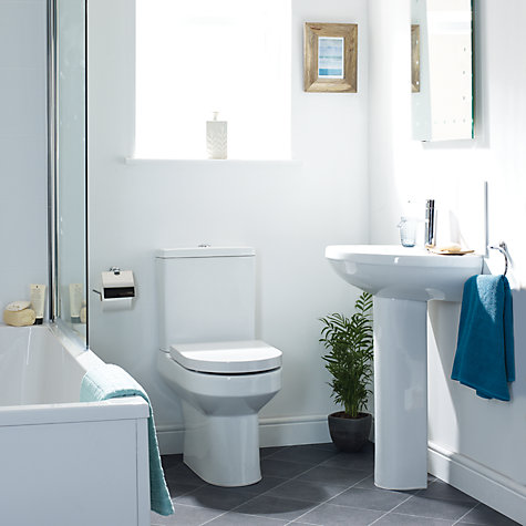 Buy John Lewis Oslo Bathroom Sink Basin and Pedestal Set, 51cm Online at johnlewis.com
