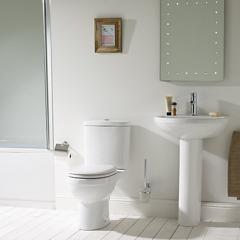 Buy John Lewis Lyon Bathroom Sink Basin and Pedestal Set, 51cm Online at johnlewis.com