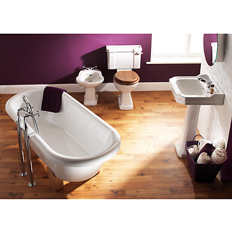 Buy John Lewis Roma Single Tap-Hole Bathroom Sink Basin and Pedestal Set Online at johnlewis.com
