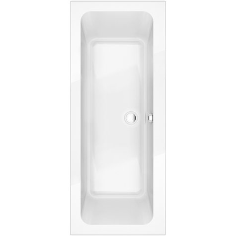 Buy John Lewis Square Duo Bath with Pop Up Waste, L170 x W80cm Online at johnlewis.com