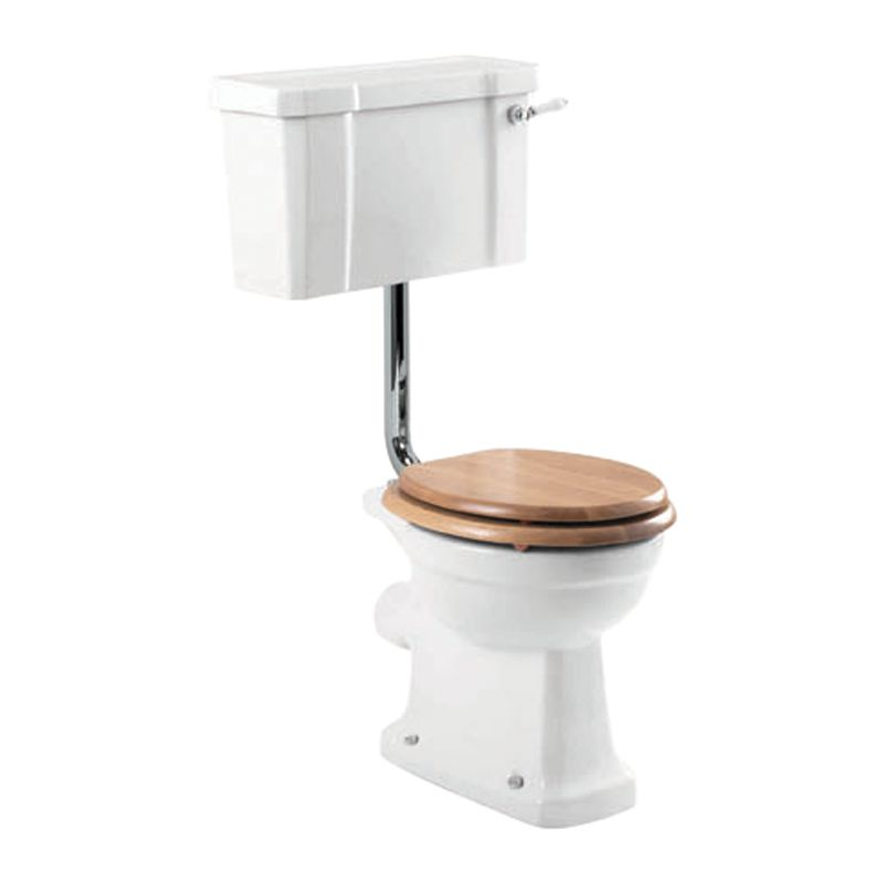 John Lewis Roma Low Level Toilet Set with Oak Seat and Cover