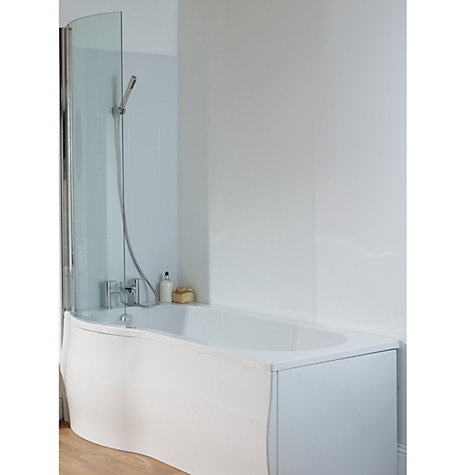 Buy John Lewis P-Shaped Right Hand Shower Bath and Shower Screen, L170 x W85cm Online at johnlewis.com