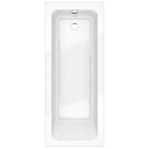 Buy John Lewis Square Mono Bath with Pop Up Waste, L170 x W70cm Online at johnlewis.com