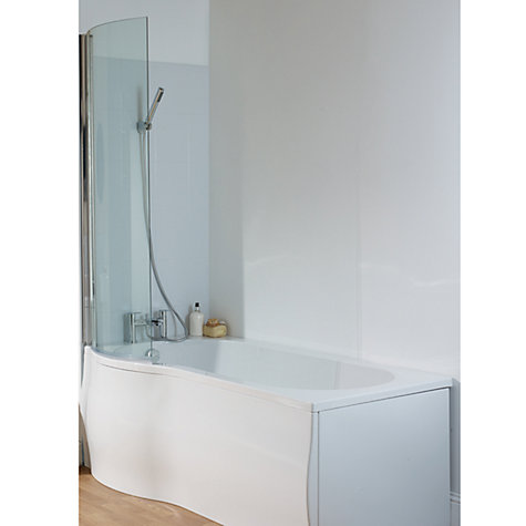 Buy John Lewis P-Shaped Left Hand Shower Bath and Shower Screen, L150 x W85cm Online at johnlewis.com