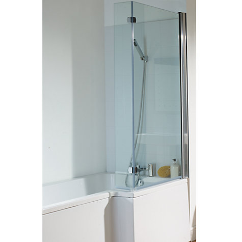 Buy John Lewis L-Shaped Left Hand Shower Bath and Shower Screen, L170 x W85cm Online at johnlewis.com