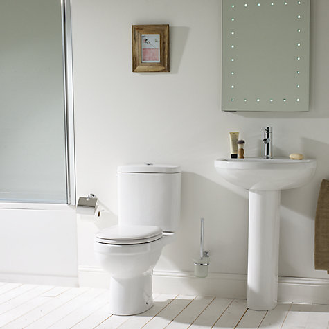 Buy John Lewis Lyon Bathroom Sink Basin and Pedestal Set, 55cm Online at johnlewis.com