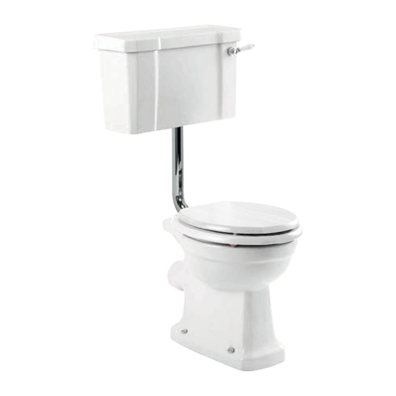 John Lewis Roma Low Level Toilet Set with White Seat and Cover