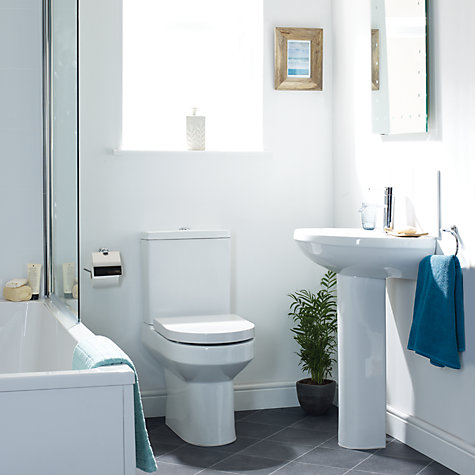 Buy John Lewis Oslo Bathroom Sink Basin and Pedestal Set, 55cm Online at johnlewis.com