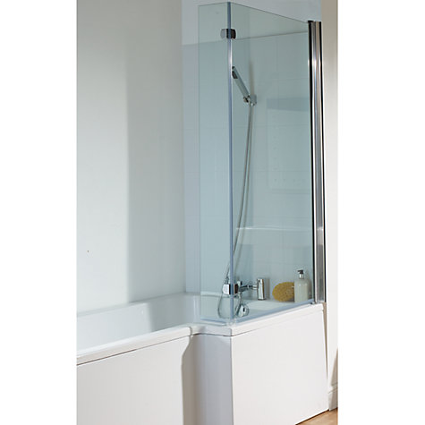 Buy John Lewis L-Shaped Right Hand Shower Bath and Shower Screen, L170 x W85cm Online at johnlewis.com
