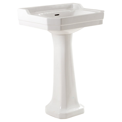 Buy John Lewis Roma Double Tap-Hole Bathroom Sink Basin and Pedestal Set Online at johnlewis.com