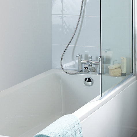 Buy John Lewis Square Mono Bath with Pop Up Waste, L170 x W75cm Online at johnlewis.com