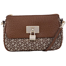 Buy DKNY Beekman Top Zip Shoulder Bag, Brown Online at johnlewis.com