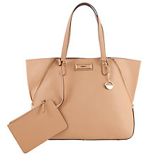 Buy DKNY Saffiano Leather Large Zip Tote Handbag, Tan Online at johnlewis.com