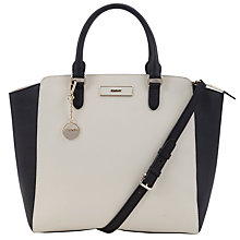 Buy DKNY Saffiano Large North/South Shopper Bag, Ivory Online at johnlewis.com