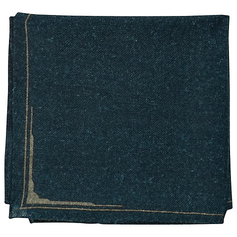 Buy Reiss Gears Plain Wool Bordered Pocket Square Online at johnlewis.com