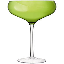 Buy LSA Midi Champagne Saucer, Lime, H30cm Online at johnlewis.com