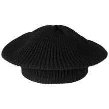 Buy Jaeger Knitted Beret, Black Online at johnlewis.com