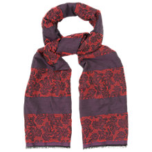 Buy Phase Eight Stripe Jacquard Scarf, Plum Online at johnlewis.com