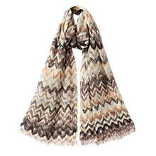 Buy East Zig Zag Embellished Scarf, Auge Online at johnlewis.com