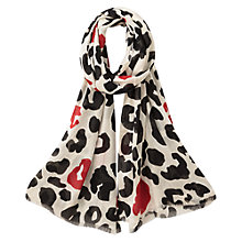 Buy East Abstract Print Scarf, Black Online at johnlewis.com
